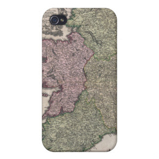 Vintage Map of Ireland (1716) Case For iPhone 4