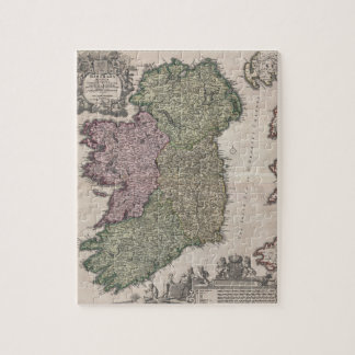 Vintage Map of Ireland (1716) Puzzle
