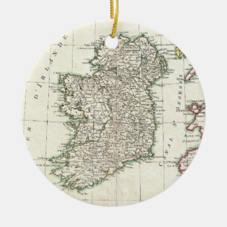 Vintage Map of Ireland (1771) Christmas Ornament