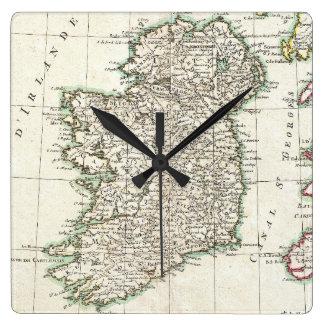 Vintage Map of Ireland (1771) Clocks