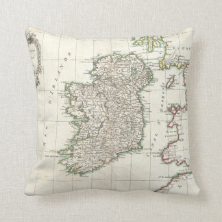 Vintage Map of Ireland (1771) Cushion