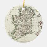 Vintage Map of Ireland (1771) Round Ceramic Decoration