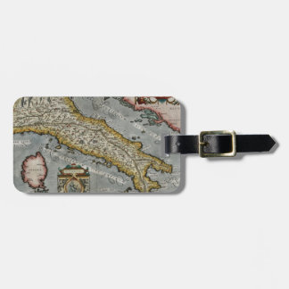 Vintage Map of Italy (1584) Luggage Tag