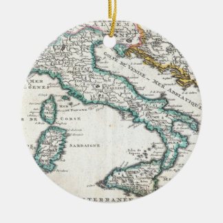 Vintage Map of Italy (1706) Christmas Ornament