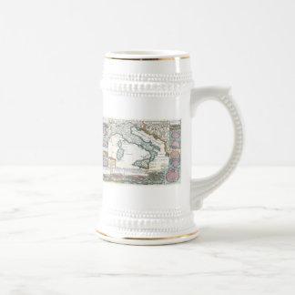 Vintage Map of Italy 1706 Coffee Mug