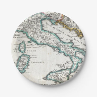 Vintage Map of Italy (1706) Paper Plate