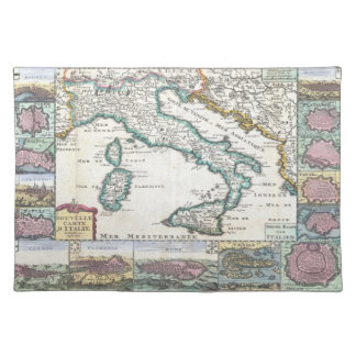 Vintage Map of Italy (1706) Placemat