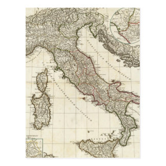 Vintage Map of Italy (1764) Postcard