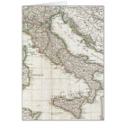 Vintage Map of Italy (1770) Card