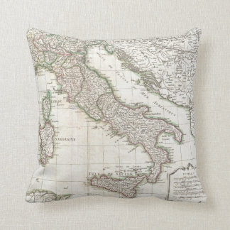 Vintage Map of Italy (1770) Cushion