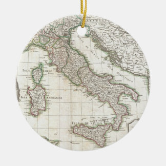 Vintage Map of Italy (1770) Christmas Tree Ornaments