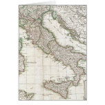 Vintage Map of Italy (1770) Greeting Card