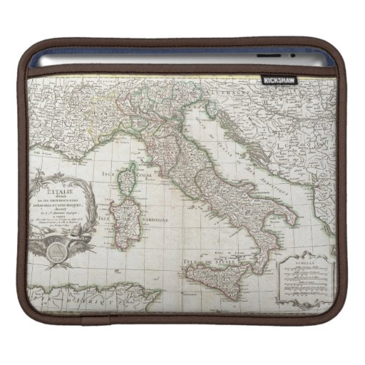 Vintage Map of Italy (1770) Sleeve For iPads