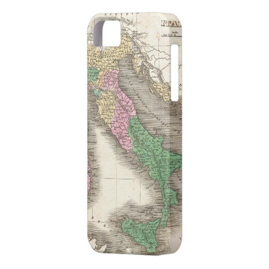 Vintage Map of Italy (1827) iPhone 5 Cover