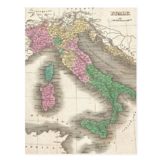 Vintage Map of Italy 1827 Postcards