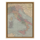 Vintage Map of Italy Poster