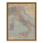 Vintage Map of Italy Print