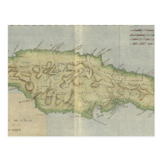 Vintage Map of Jamaica (1780) Postcard