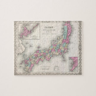 Vintage Map of Japan (1855) Puzzles