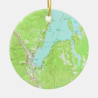 Vintage Map of Lake George New York (1966) 2 Christmas Ornament