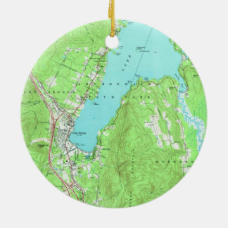 Vintage Map of Lake George New York (1966) Christmas Ornament