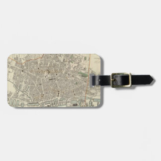 Vintage Map of Liverpool England (1836) Luggage Tag