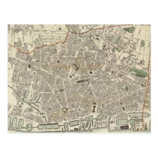 Vintage Map of Liverpool England (1836) Postcard