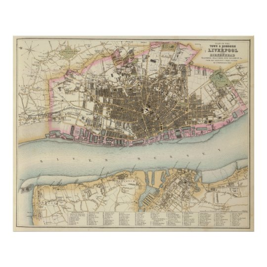 Vintage Map of Liverpool England (1872) Poster | Zazzle.co.uk