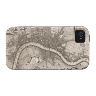 Vintage Map of London (1693) iPhone 4 Case