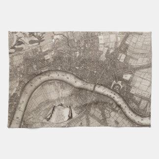 Vintage Map of London (1693) Tea Towel