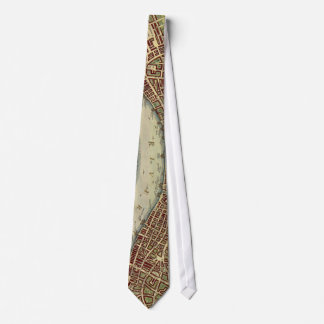 Vintage Map of London (17th Century) Tie