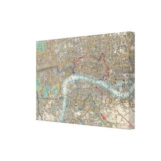 Vintage Map of London (1848) Canvas Print