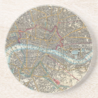 Vintage Map of London (1848) Coaster