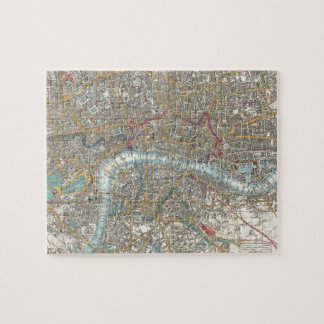 Vintage Map of London (1848) Jigsaw Puzzle