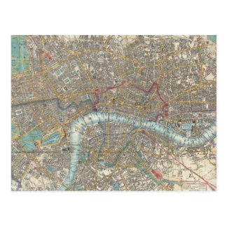 Vintage Map of London (1848) Postcard