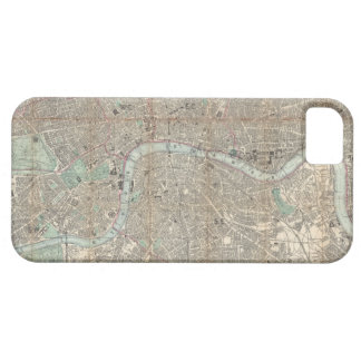 Vintage Map of London (1890) iPhone 5 Cases