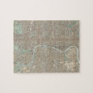 Vintage Map of London (1890) Jigsaw Puzzle