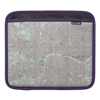 Vintage map of London city iPad Sleeve