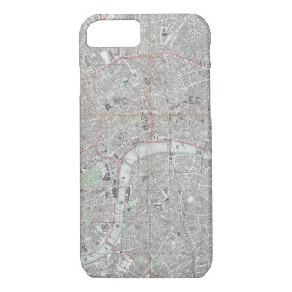 Vintage map of London city iPhone 8/7 Case