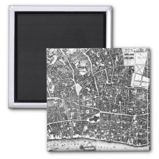 Vintage Map of London England (1677) Magnet