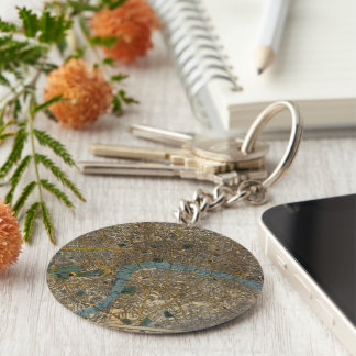 Vintage Map of London England (1860) Keychain