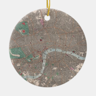 Vintage Map of London England (1862) Christmas Ornament