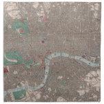 Vintage Map of London England (1862) Printed Napkins