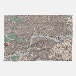 Vintage Map of London England (1862) Tea Towel