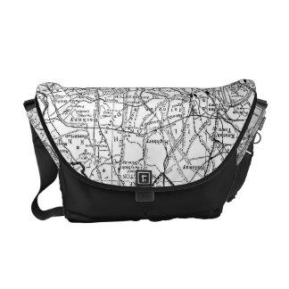 Vintage Map of London England (1911) Courier Bag