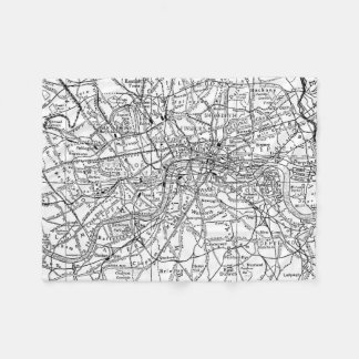 Vintage Map of London England (1911) Fleece Blanket