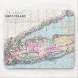 Vintage Map of Long Island (1880) Mouse Pad