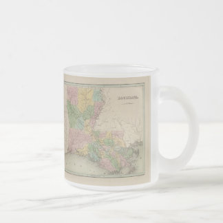 Vintage Map of Louisiana (1838) Frosted Glass Coffee Mug
