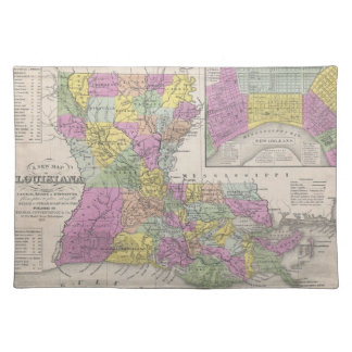 Vintage Map of Louisiana (1853) Placemat