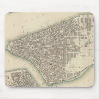 Vintage Map of Lower New York City 1840 Mouse Pad